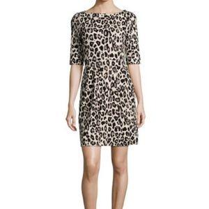 Kate Spade leopard short sleeve midi dress Sz12